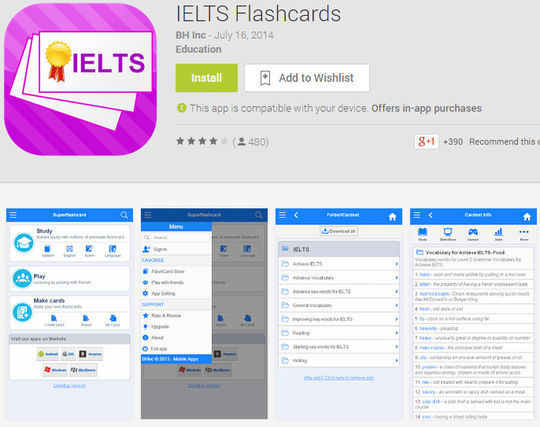 flashcard ielts